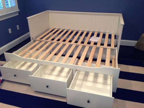 ikea BRIMNES Daybed frame with 3 drawers assembled in Capitol Hill DC