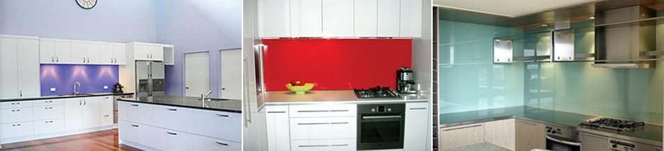 Glass splash back recently installed in kitchens in the Bay of Plenty