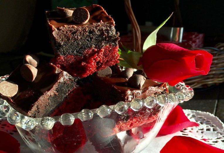 Red Velvet Ganache Brownies