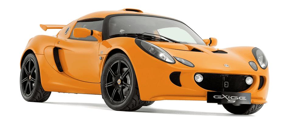 orange lotus type sports car