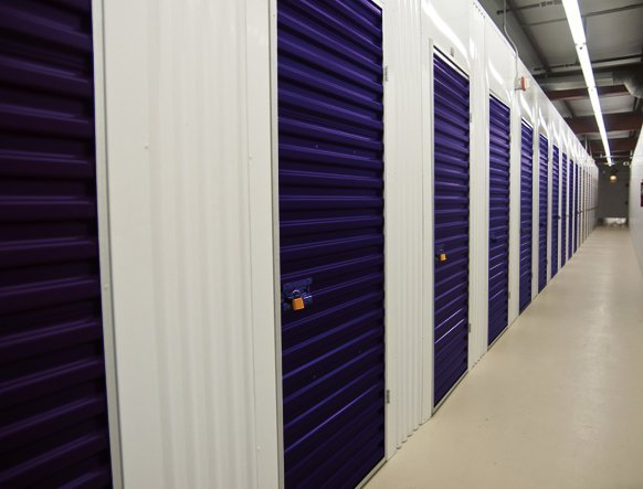Blue storage lockers