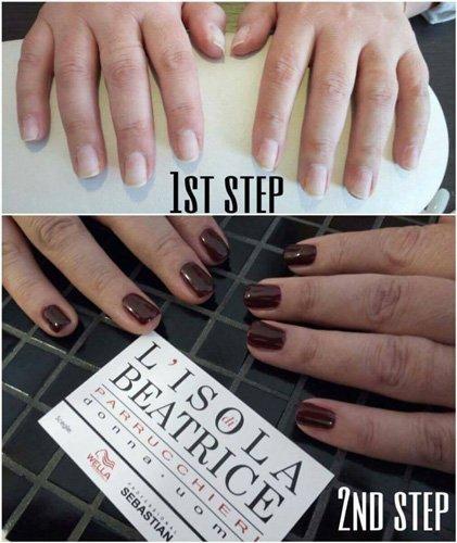 Locandina promozionale della manicure del salone
