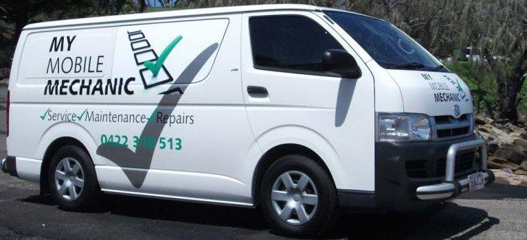 My mobile mechanic service car