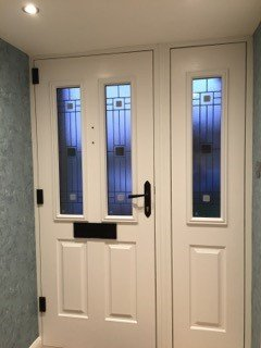 cream coloured door
