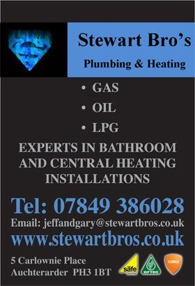 Central heating services - Auchterarder - Stewart Bros Ltd - Flyers
