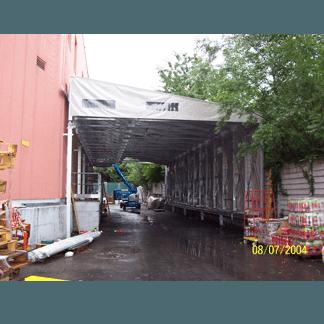 Tunnel di copertura mobile zoppo