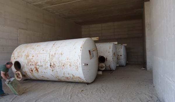 cisterna arrugginita