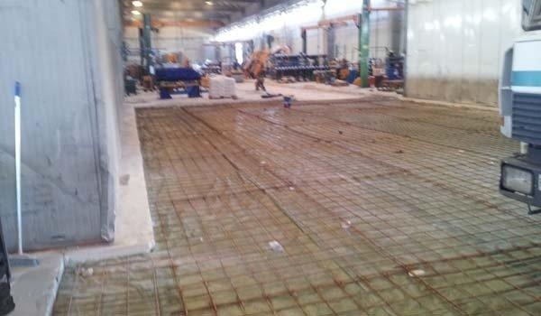 rete ferro pavimento