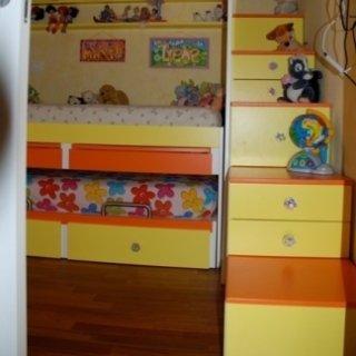soppalco in legno, soppalco per camerette, soppalco per bambini