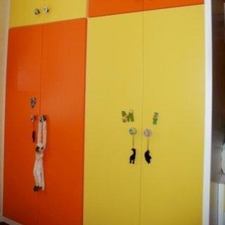 armadi per bambini, mobili allegri, mobili in legno per bambini