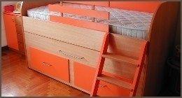 letto piccolo, lettini in legno, lettini colorati