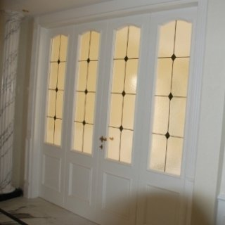 porta a vetri, porta doppia, vetro smerigliato