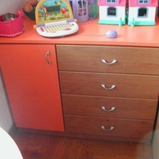 cassettiera bimbi, armadietti colorati, mobili in legno laccato