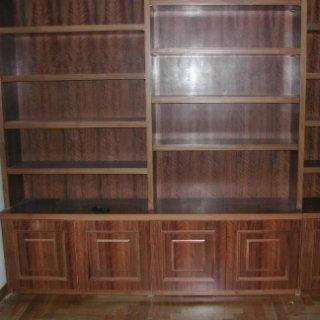 intarsi, decorazioni in legno, libreria intarsiata