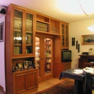 arredare soggiorno, arredare con mobili in legno, arredi su misura in legno