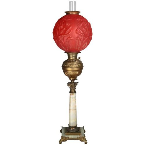 oil lamp antique lighting vintage lighting