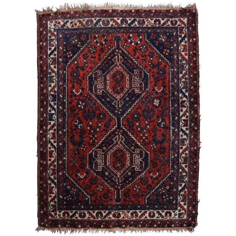 Persian Shiraz Nomadic Tribal Oriental Rug