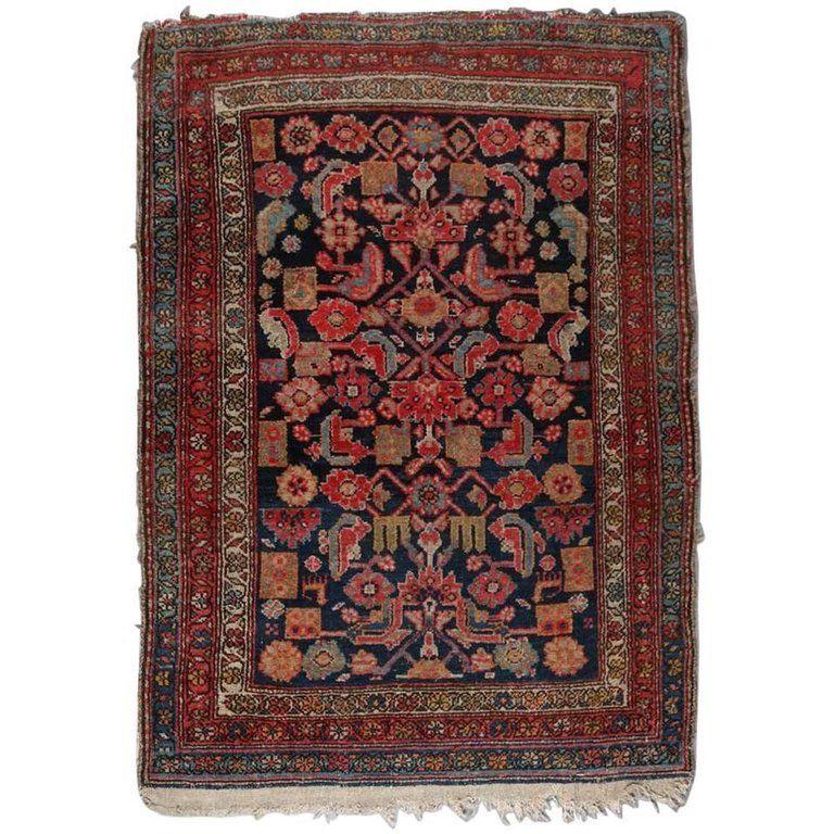 oriental Asian carpet Malayer Herati floral red