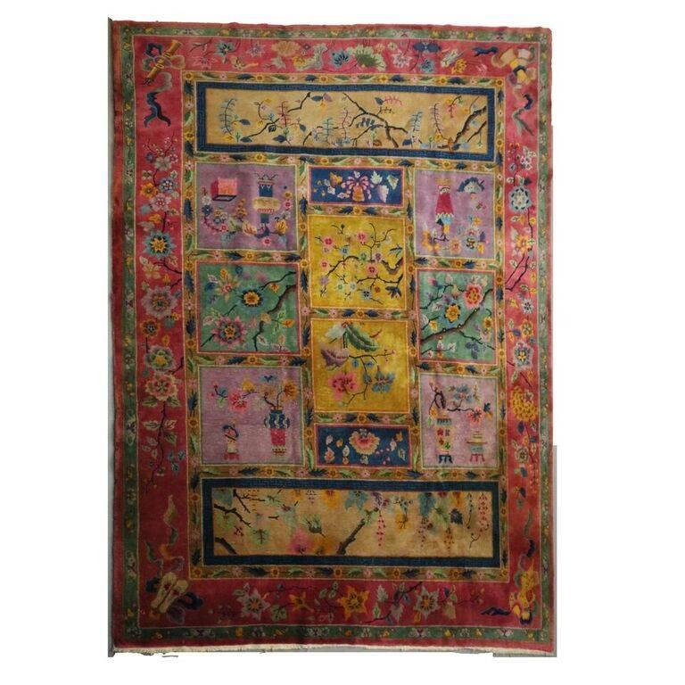 Nichols 1930's Art Deco Chinese Oriental Rug | Antique Revival Ithaca, Watkins Glen, Corning, NY