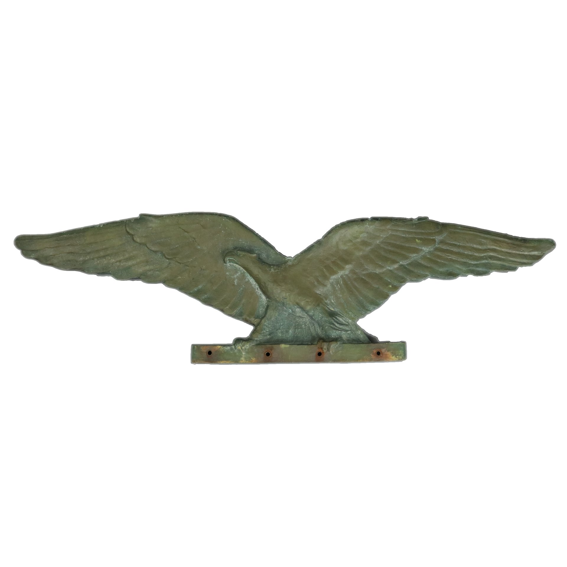 United States 1890's Bronze Folk Art Eagle Architecture Mount | Antique Revival Ithaca, Watkins Glen, Corning, NY