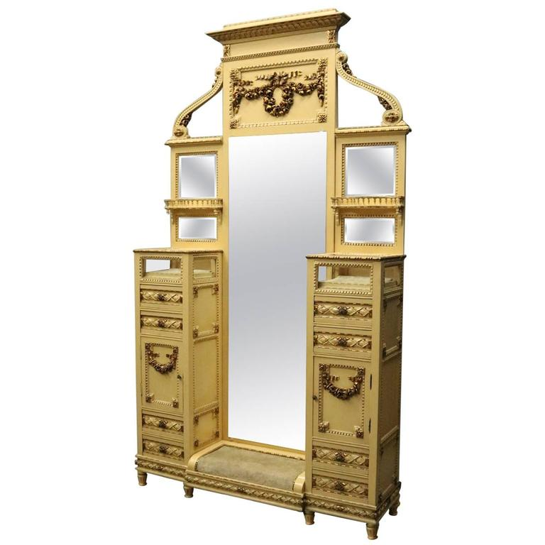 French 1880's Provincial Dressing Stand, Cheval Mirror, and Vitrines | Antique Revival Ithaca, Watkins Glen, Corning, NY