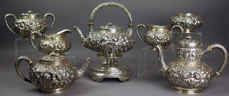 Sterling silver tea party collectible