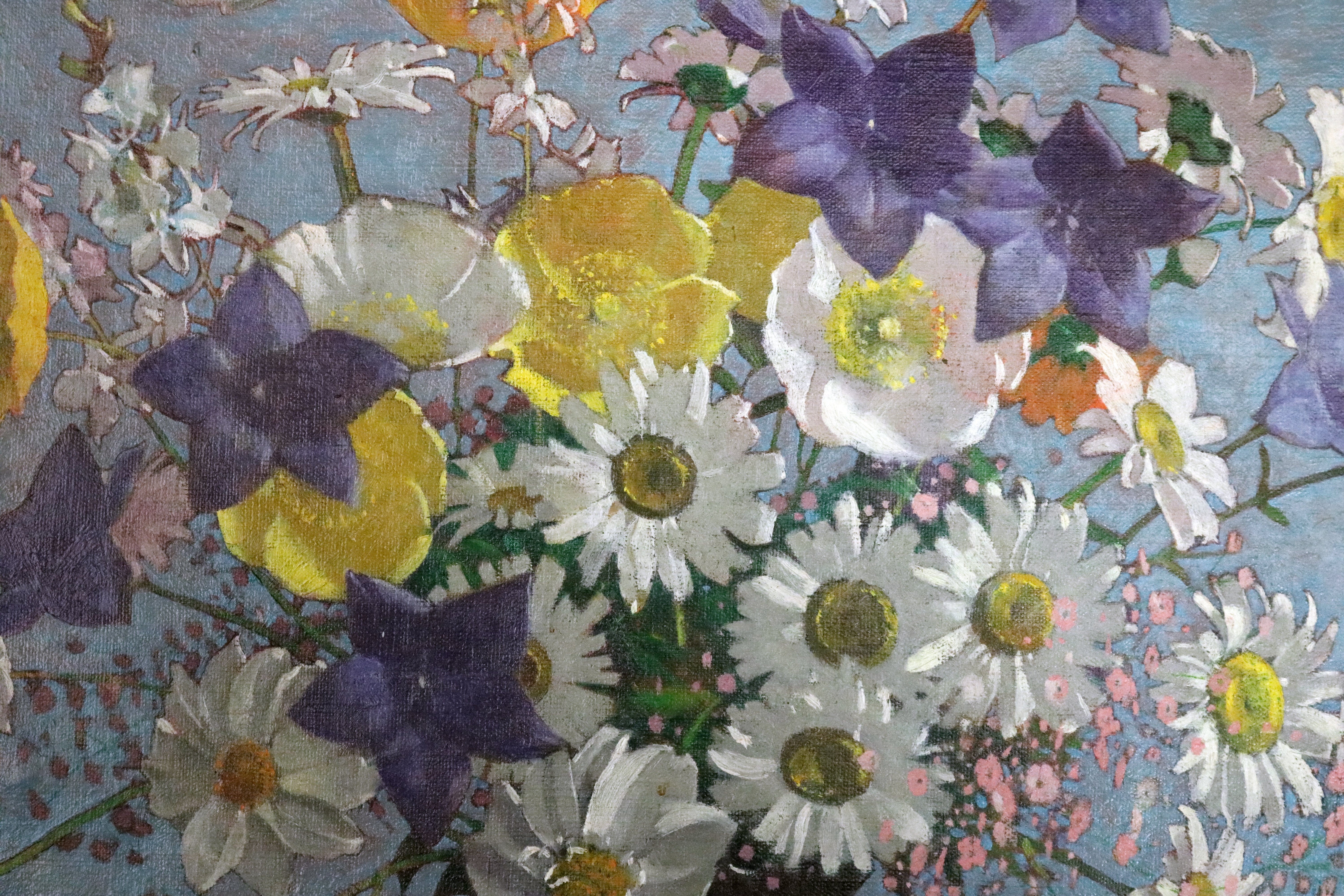 oil painting flowers wild floral bouquet