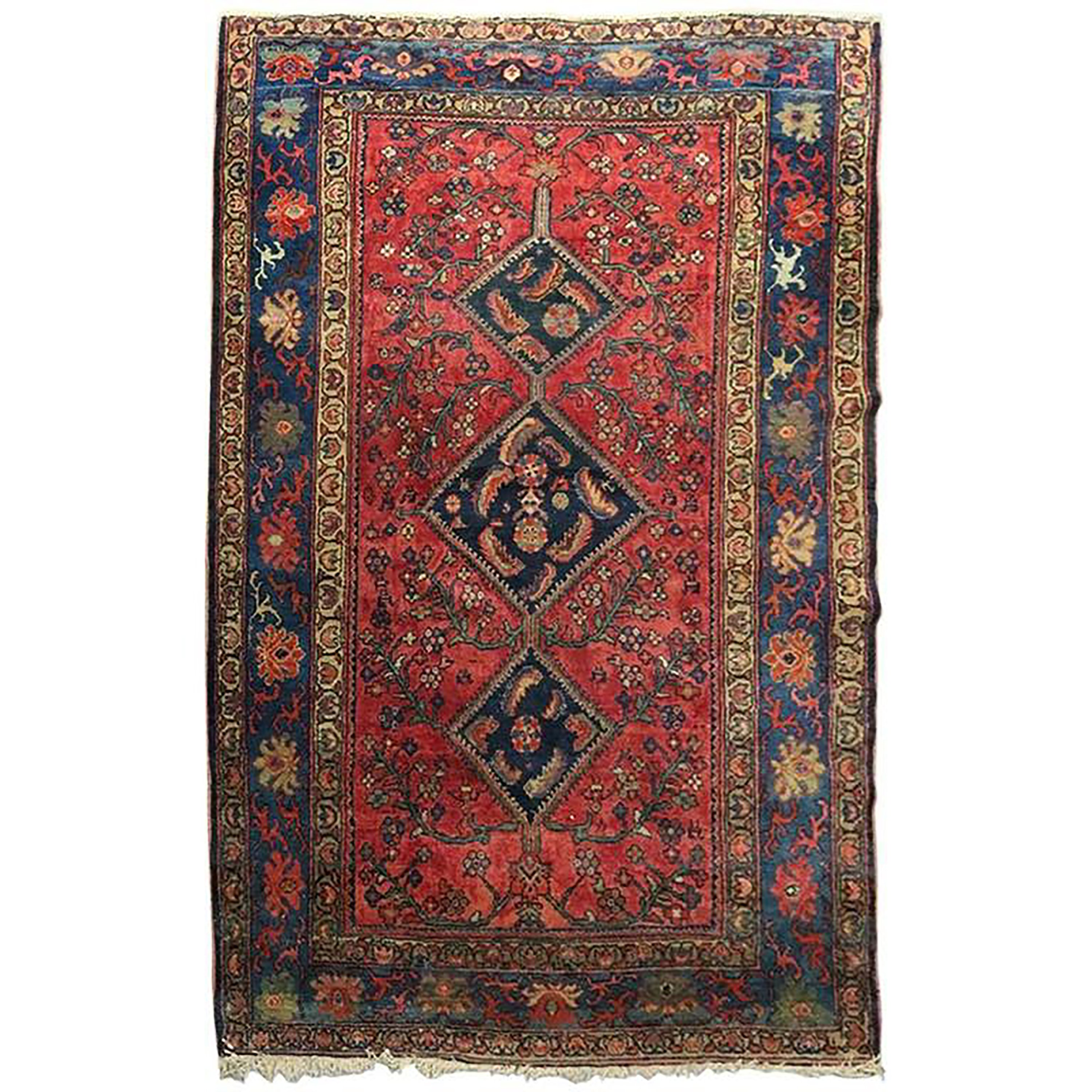 Sarouk Persian Oriental Rug Carpet Decor