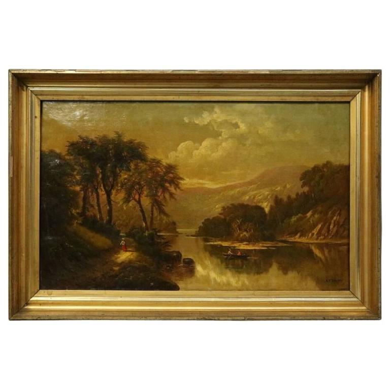 S. P. Dyke 1875 Painting West Branch of the Susquehanna | Antique Revival Ithaca, Watkins Glen, Corning, NY