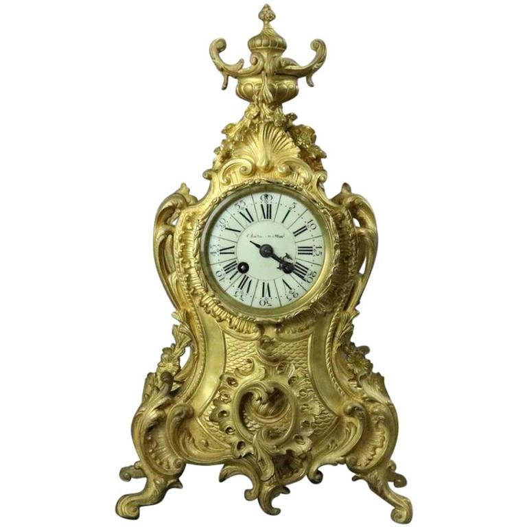bronze antique clock louis XV