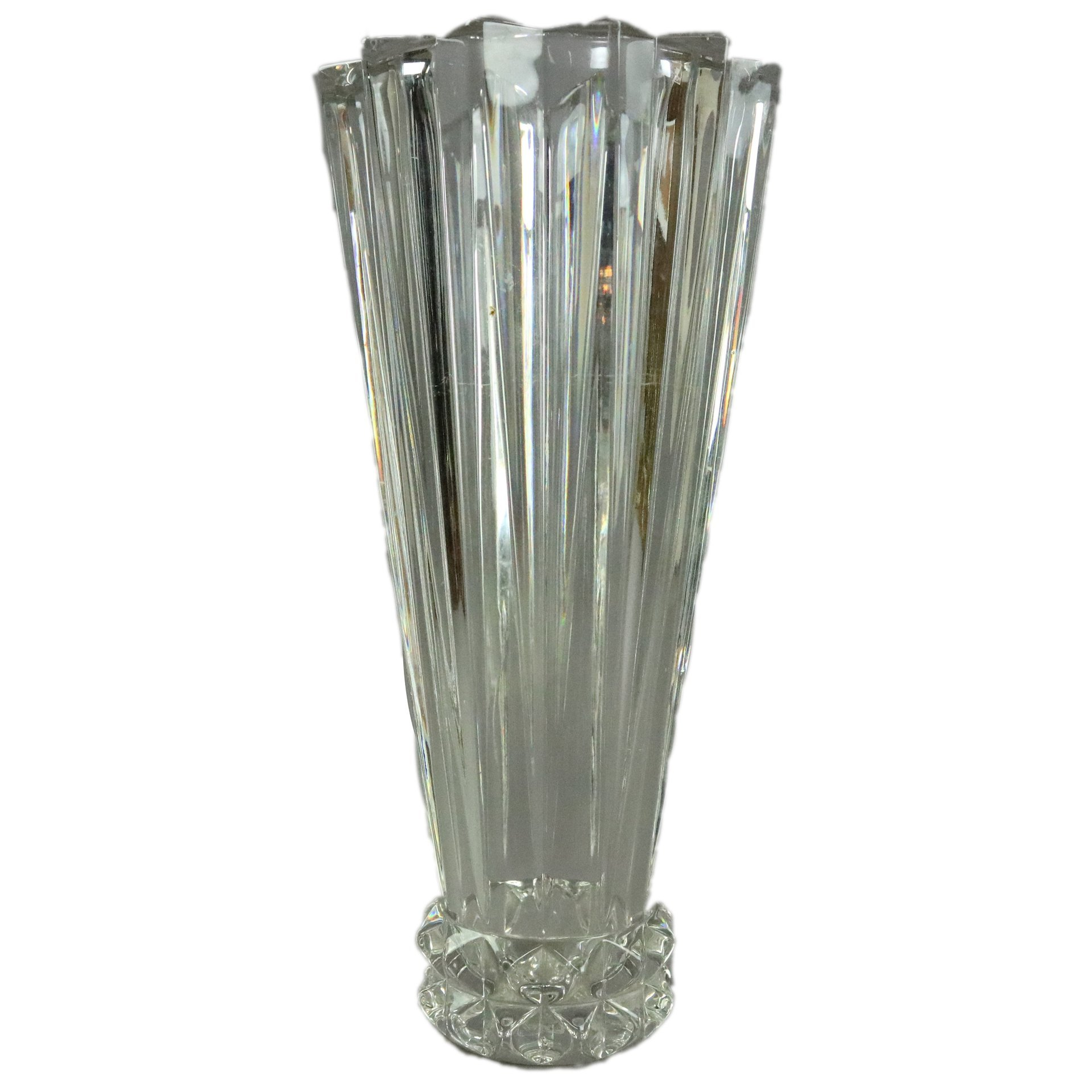 Rosenthal 1950's Art Deco Style Glass Vase | Antique Revival Ithaca, Watkins Glen, Corning, NY