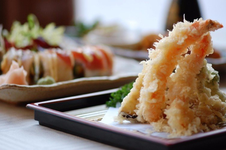 un piatto di tempura