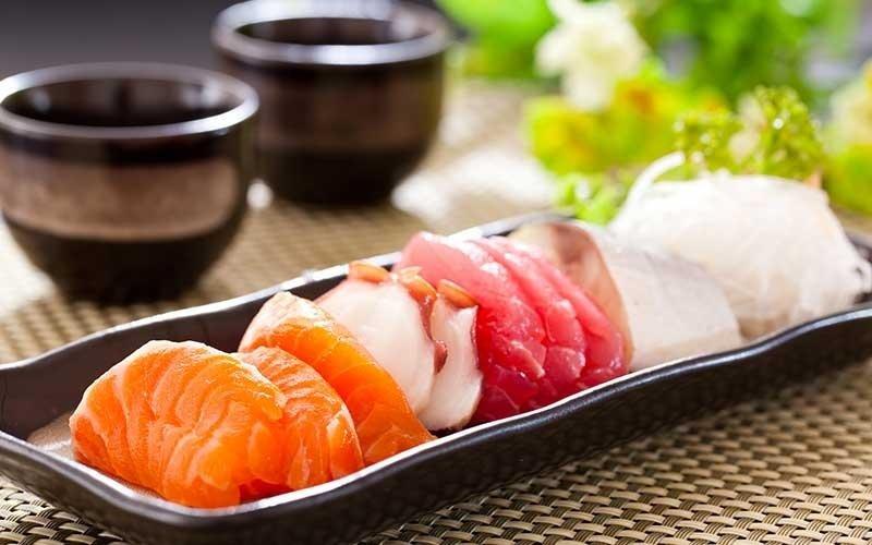 carpaccio di salmone, tonno e altro