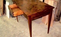 tavolo scrittorio, restauro