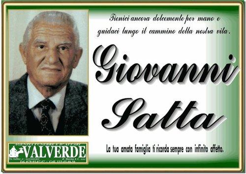 manifesto funebre Giovanni Satta