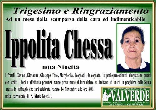 manifesto funebre Ippolita Chessa