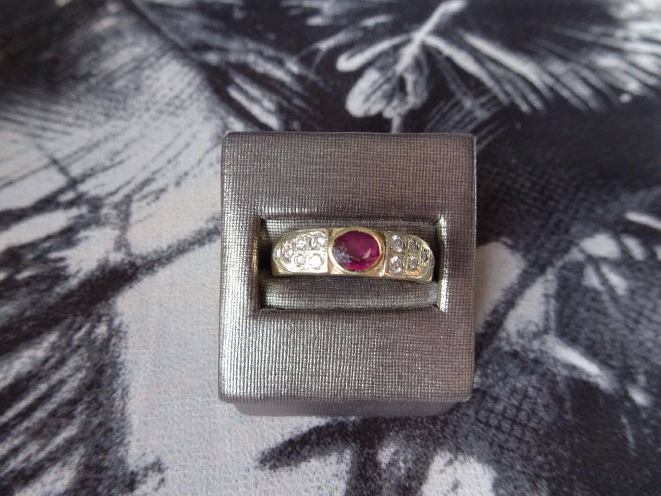 View of hand made ring