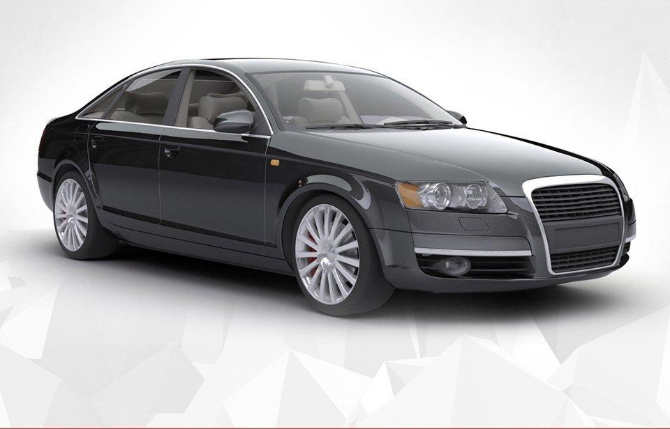 a stylish car