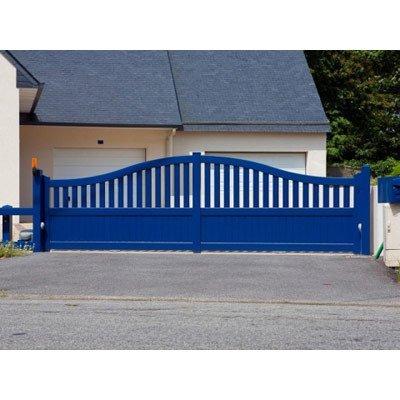 cancello blu
