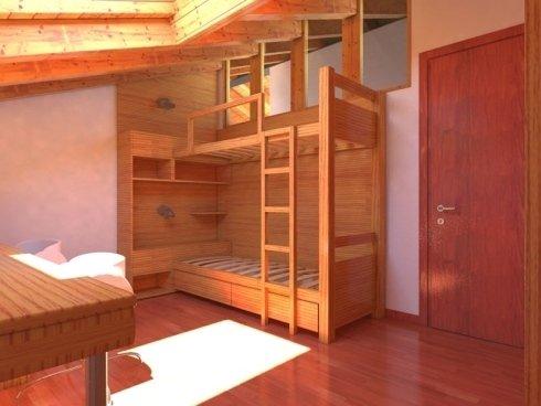 Camere in legno su misura