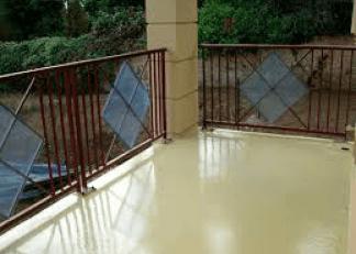 PAvimento in resina su un balcone