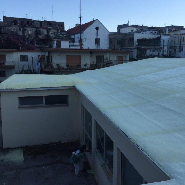 vista di un tetto di uno stabile