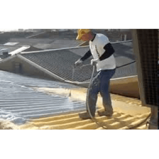 un angolo di una terrazza con pavimentazione impermeabile di color giallo