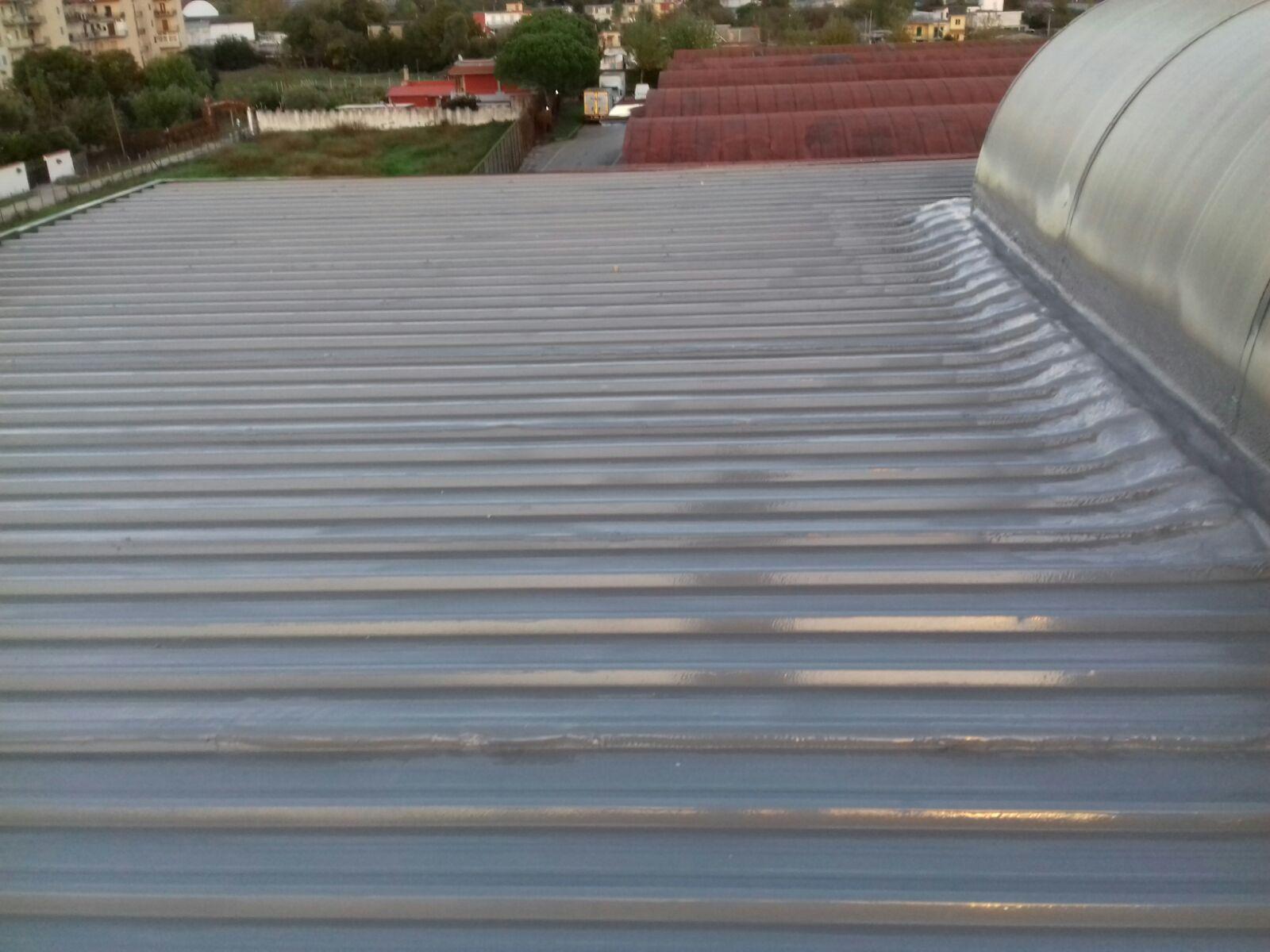 Impermeabilizzazione con poliurea su lamiera metallica
