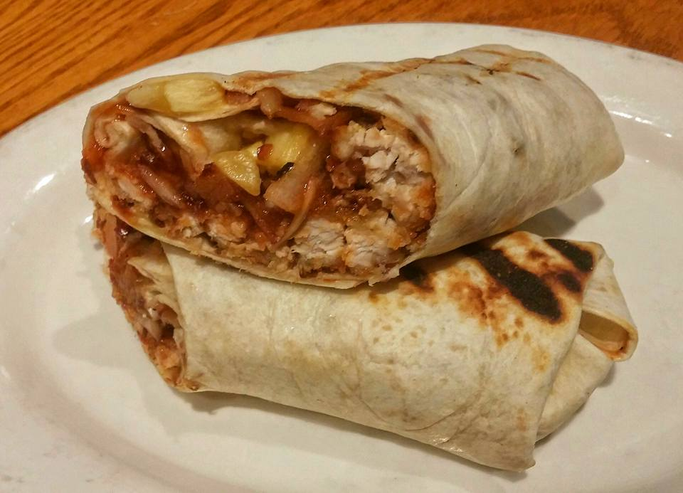 BBQ Coconut Chicken Wrap