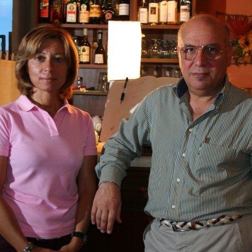 Antonella e Giuseppe titolari del ristorante Godimento Divino