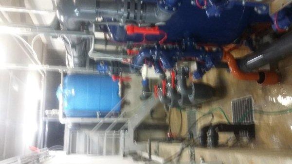 vista di un impianto termoidraulico