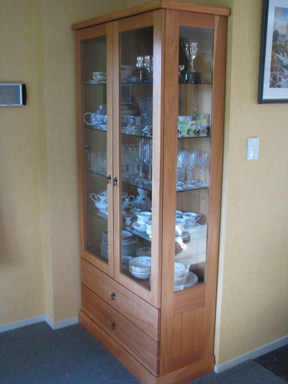 China cupboard made during joinery services in Taranaki