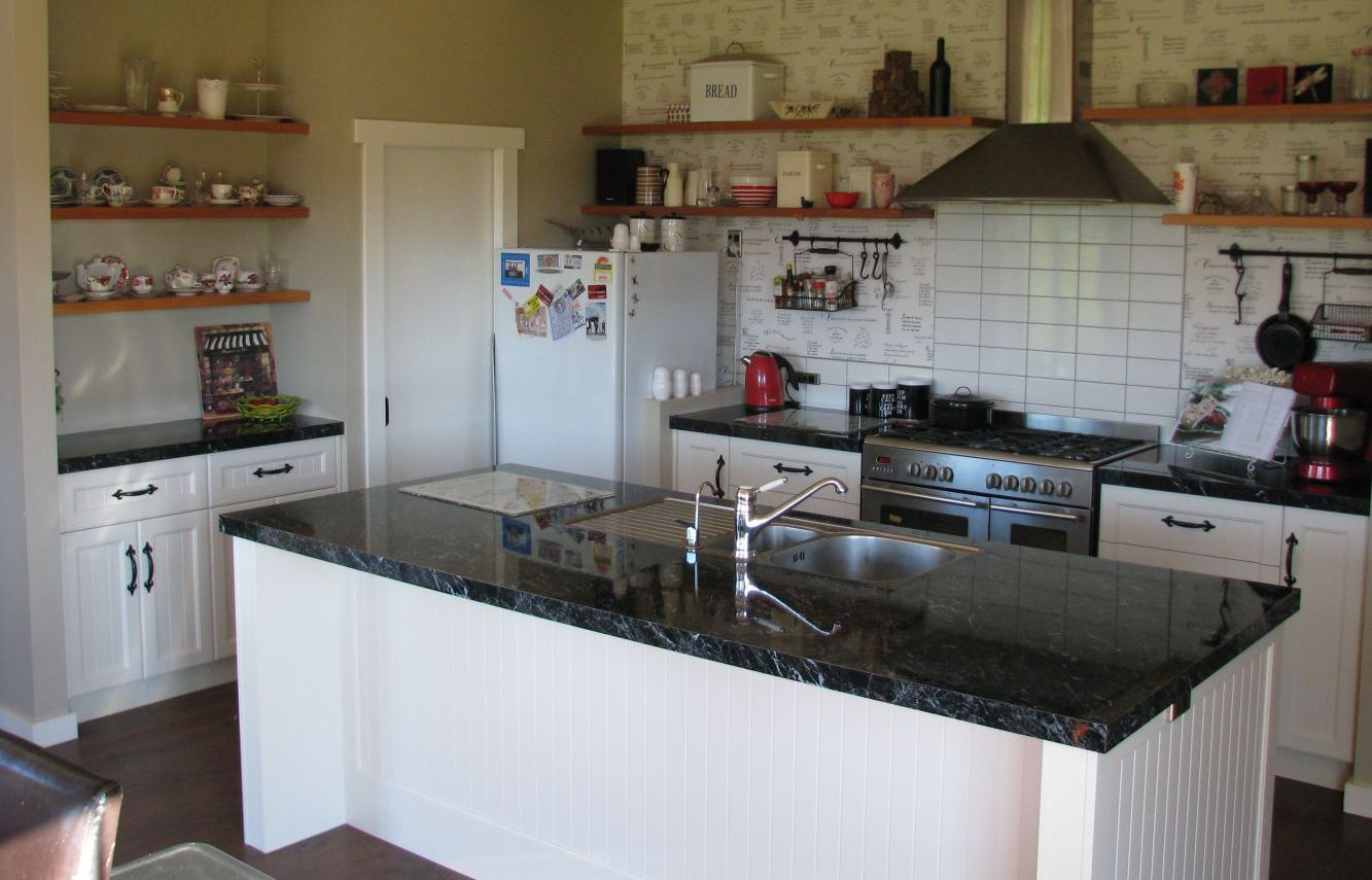 A custom kitchen designed by a Taranaki joiner