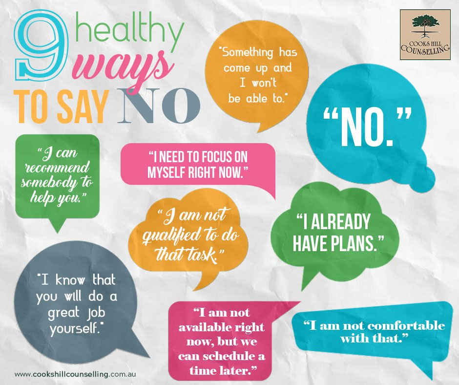 "How do you say no? 9 Healthy Ways to Say ""No"""